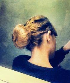 Chignon with braids