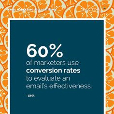 60% of marketers use conversion rates to evaluate an email's effectiveness. – DMA #ifactory #ifactorydigital  #emailmarketing #digitalmarketing #digital #edm #marketing #statistics  #email #emails