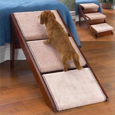 Superior Wood Dog Stairs And Dog Ramp In One