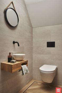 Bathroom Under Stairs, Oak Bathroom, Bathroom Design Small, Bathroom Interior Design, Modern Toilet Design, Small Toilet Room, Wc Design, Bathroom Toilet Paper Holders, Washbasin Design