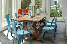 Love so many of these... Industrial Chairs   The Lettered Cottage. where to find ones that are not $ 200