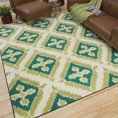 Mohawk Home Indoor/Outdoor Floral Splash Rug (8' x 10') | Overstock.com Shopping - The Best Deals on 7x9 - 10x14 Rugs