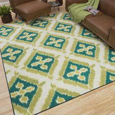 Mohawk Home Indoor/Outdoor Floral Splash Rug (8' x 10')   Overstock.com Shopping - The Best Deals on 7x9 - 10x14 Rugs