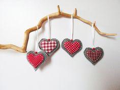 Christmas felt heart ornaments home decor by myRainbowWorld, $16.00