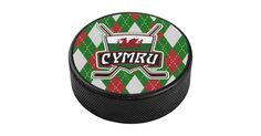 Regulation size #Welsh flag #hockey #puck with full color printed design, great for display or autographs!  Many more designs available. #IceHockey #Wales #Cymru