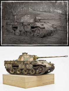 1:35 Tamiya - Panzerkampfwagen V Panther / Photo manipulation #2