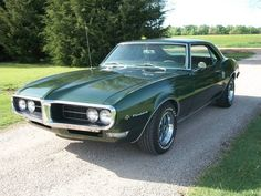 Make: Pontiac Model: Firebird Year: 1968 Exterior Color: Green Interior Color: Green Doors: Two Door Vehicle Condition: Good Phone: 785-452-2569 For More Info Visit; http://UnitedCarExchange.com/a1/1968-Pontiac-Firebird-508551187529