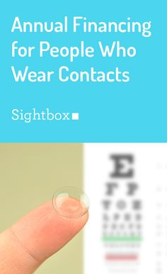 Sightbox makes wearing contact lenses more affordable by offering monthly payments for annual vision care. After you sign up, we book and pay for your eye exam, then deliver your contact lenses throughout the year. Get started now!
