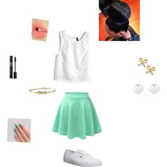 first day of 8th grade by kikib423 on Polyvore featuring polyvore, moda, style, H&M, Vans, Dogeared, Accessorize, Lilly Pulitzer and Charlotte Tilbury