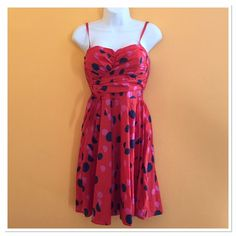 Red H&M Polka Dot Dress Made in India. Runs a little small. Measurements to come. H&M Dresses Midi