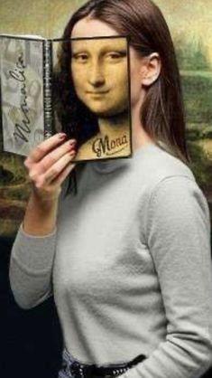 Real Mona Lisa, Mona Lisa Smile, Lisa Lisa, Van Gogh, Mona Lisa Parody, Having A Bad Day, Make Me Smile, Pretty, Collages