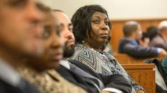 Ursula Ward, right, the mother of victim Odin Lloyd, watches the proceedings during former New England Patriots football player Aaron Hernandez's murder trial, Tuesday, March 17, 2015, in Fall River, Mass. Hernandez is charged with killing semiprofessional football player Odin Lloyd. (AP Photo/The Boston Globe, Aram Boghosian, Pool)