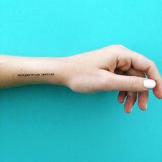 Wingardium Leviosa Tattoo harry Potter temporäre Tattoo Text