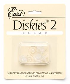 Look at this #zulilyfind! Large Plastic Disk Earring Backs - Set of Three #zulilyfinds