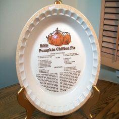 bonus - pie plate w/ recipe & Vintage Watkins Cherry Pie Heavy Large Bakeware Pie Plate with ...