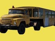 APPA-4 Airport Passenger Bus Free Vehicle Paper Model Download