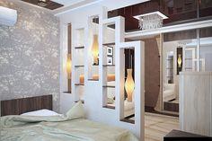 Хороший пример отличного зонирования пространства в комнате.