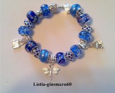 ♥♥ NEW *BEAUTIFUL BLUE* FULLY LOADED EURO PANDORA STYLE BRACELET ♥♥