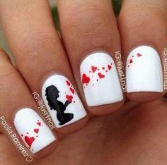 shweshwe dresses 2017 and the latest nail art Valentine's Day Nail Designs, Elegant Nail Designs, Cute Nails, Pretty Nails, Bow Tie Nails, Valentine Nail Art, Latest Nail Art, Oval Nails, Nail Art Hacks