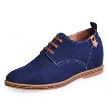 Dark Blue casual height elevator shoes uk be tall 6cm / 2.36inches