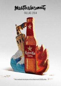 Cartel de Estrella Damm para las Fallas 2014 de Valencia