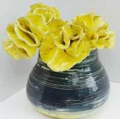 Yellow Ceramic Flowers