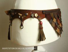 Raumstation Vokuhila, DIY, leather girdle, inspired by Daenerys Targaryen (Dothraki Style), Khaleesi, Dragonscales