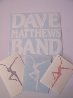 DMB Dave Matthews Band Decal Set of 4 Stickers Vinyl by nockonwood, $9.00