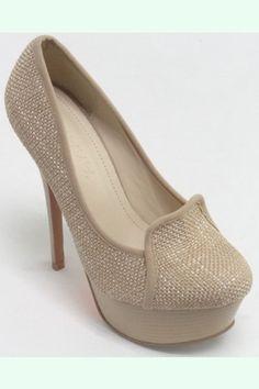 No Pressure-Tan  Cute Loafer High Heel  $40.20  www.ClassyChickClothingOnline.com   5.5, 6,6.5,7,7.5,8,8.5,9,10