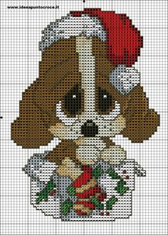 Merry Christmas Sad Sam 2 of 3 Xmas Cross Stitch, Just Cross Stitch, Beaded Cross Stitch, Cross Stitch Animals, Cross Stitch Kits, Cross Stitch Charts, Cross Stitch Designs, Cross Stitching, Cross Stitch Embroidery