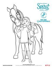 Spirit Riding Free Unstoppable Summer Fun Coloring Page Abigail