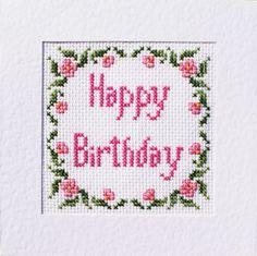 Birthday Cross Stitch Card Kit ⭐️ Many Different Designs ⭐️ List 14 Cross Stitch Bookmarks, Cross Stitch Cards, Cross Stitch Alphabet, Cross Stitch Kits, Cross Stitch Designs, Cross Stitching, Cross Stitch Embroidery, Cross Stitch Patterns, Kawaii Cross Stitch