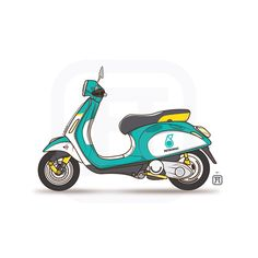 FA x Vespa Sprint for Black Book. Petronas Team. Malaysia.    #vector #work #workstation #sketchbook #sketch #illustration #illustrator #vespa #sprint #vector