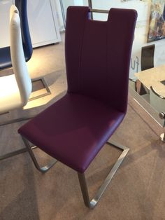 Purple Dining Room Chair - part of set with Grande extending dining table (Furniture Village)