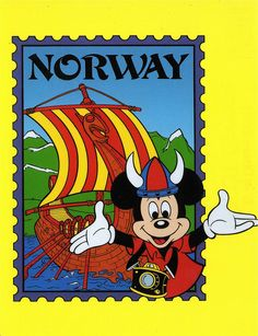 Mickey in Norway postcard by starberryshyne, via Flickr