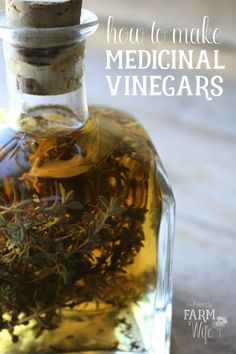Medicinal vinegars (Vinegar Extracts) have been around since ancient times and were an excellent way to preserve and dispense herbs before distilled spirits were known about. Holistic Remedies, Natural Health Remedies, Herbal Remedies, Healing Herbs, Medicinal Herbs, Herbal Tinctures, Herbalism, Herbal Extracts, Natural Medicine