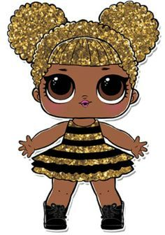 LOL Surprise Doll Coloring Pages – Page 9 – Color your favorite LOL Surprise Doll! Lol Doll Cake, Chibi Kawaii, Doll Party, Lol Dolls, Queen Bees, Big Eyes, Cute Drawings, Paper Dolls, Birthday