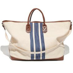 MADEWELL The Oversized Tote in Surf Stripe