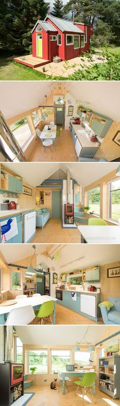 NestHouse by Tiny House Scotland - Tiny Living Jonathan Avery of Tiny House Scotland designed and developed the NestHouse, an energy efficient moveable modular eco-house built using green principles. Living Haus, Tiny House Living, Living Room, Small Room Design, Tiny House Design, House Names, Cute Cottage, Eco Friendly House, Little Houses