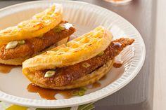 "Chicken 'n Waffle ""Tacos"""
