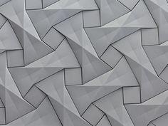 KAZA Concrete's contemporary concrete tile design,'Quadilic'  by origami artist Ilan Garibi