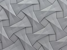 KAZA Concrete's contemporary concrete tile design,'Quadilic'  by origami artist Ilan Garibi