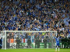 Drogba salutes the fans