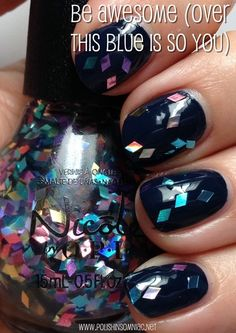 Nicole by OPI Be Awesome (over This Is So Blue)