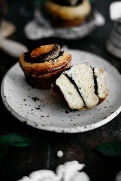 Black Tahini Buns with White Chocolate and Orange