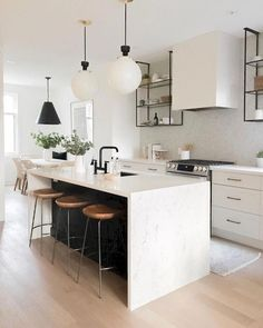 Supreme Kitchen Remodeling Choosing Your New Kitchen Countertops Ideas. Mind Blowing Kitchen Remodeling Choosing Your New Kitchen Countertops Ideas. Modern Kitchen Design, Interior Design Kitchen, Home Design, Design Ideas, Kitchen Designs, Modern Design, Modern Bar, Kitchen Contemporary, Modern White Kitchens