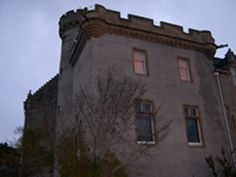 South side, first and second floor, of the keep of Tulloch Castle, Scotland.