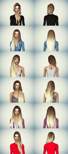 AlwaysSims: Ombre Hair - New Colors