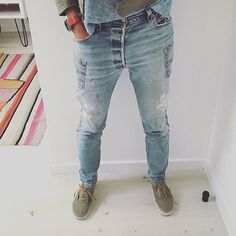 Thank you @dreshapiro for the customer photo! You look fantastic in our reworked drop-rise jeans! #kabanplus #vintage #levis #jeans #denim #reworked