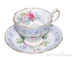 Antique Cup and Saucer by Margojh, via Dreamstime